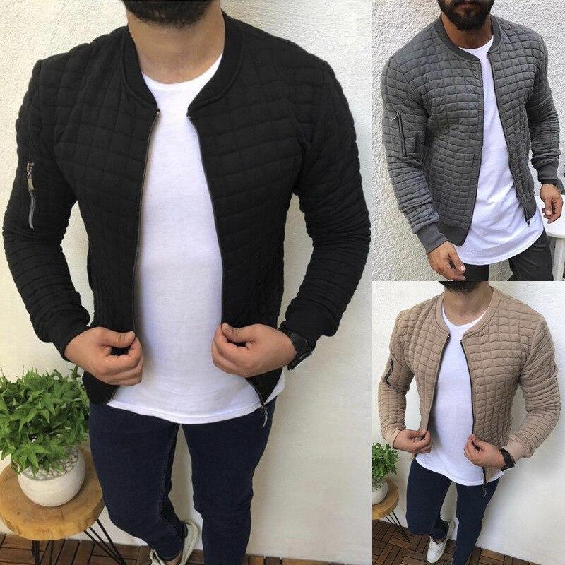 Качественная мужская Осенняя плиссированная куртка на молнии, повседневная куртка-кардиган, Спортивная повседневная мужская куртка в стил...