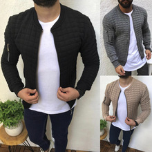 Quality Men's Autumn Pleats Fit Jacket Zipper Casual Cardigan Coat Sports Casual