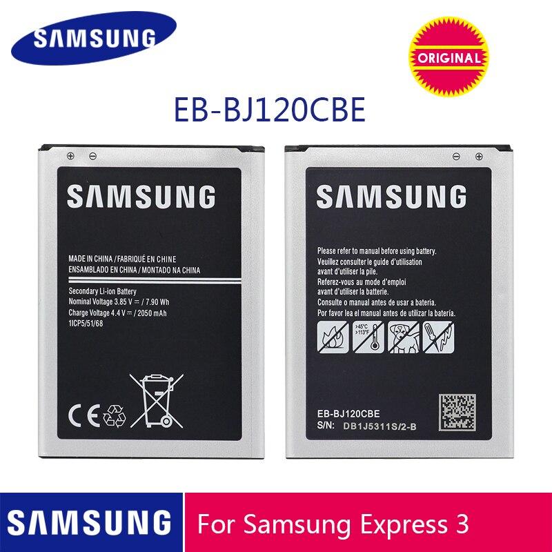 Samsung bateria original EB-BJ120CBU EB-BJ120CBE 2050 mah para samsung galaxy j1 2016 versão j120 j120f j120a j120h j120t j120ds