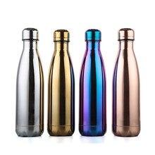 Купить с кэшбэком Bpa-Free 500ml Insulated Thermos Water Bottle Electroplate Body Coffee&Tea Bottle 304 Stainless Steel  Vacuum Flasks Travel Mug