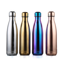 New 500ML BPA FREE Insulated auto mug Electroplate coffee Cup Stainless Steel Thermos Water Bottle Vacuum Flasks Travel TEA Mug