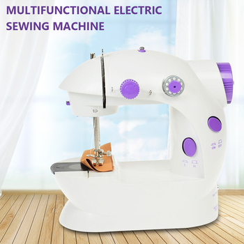 Portable Mini Sewing Machine Handheld Electric Machines Household Multifunction Automatic Tread Rewind LED