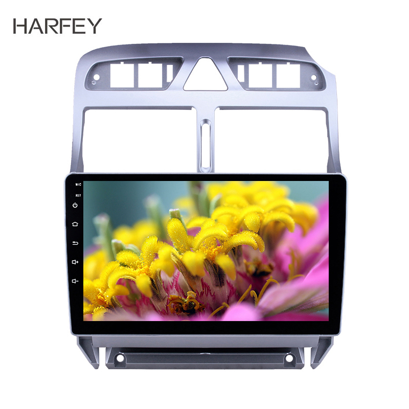 Harfey <font><b>2din</b></font> 9inch GPS car multimedia player Android 8.1 <font><b>for</b></font> <font><b>Peugeot</b></font> <font><b>307</b></font> 2007 2008 2009 2010 2012 2013 Head unit car <font><b>Radio</b></font> image