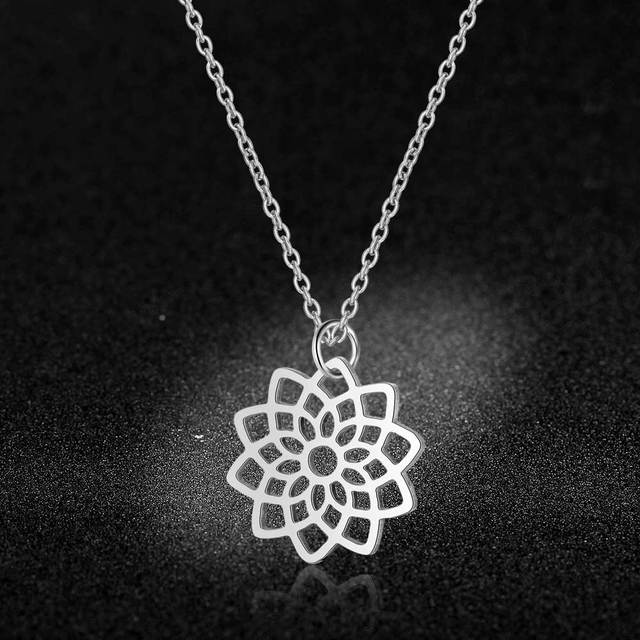 Stainless Steel Lotus Charm...