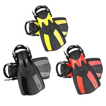 1 para dorosłych płetwy do pływania regulowany nurkowanie buty do nurkowania stóp płetwy dla pływanie nurkowanie Pro szkolenie pływackie akcesoria tanie i dobre opinie CN (pochodzenie) Other Dla dorosłych