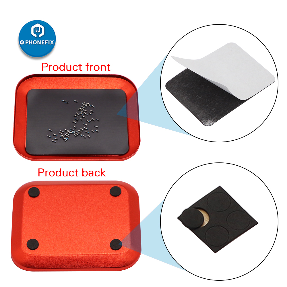 PHONEFIX  Aluminum Screw The Tray With Magnetic Pad Screw Storage Box For RC Model Cell Phone Repair Tools Screw Plate Screw Box