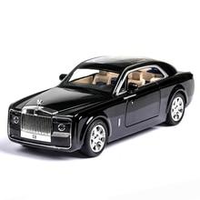 2020 1/24 Diecast Toy Vehicl Rolls Royce Phantom Car Model Wheels Alloy Sound Light Pull Back Car Kid Toy Car Christmas Gift