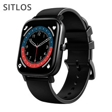 Sitlos 2021 relógio inteligente das mulheres dos homens p12 tws bluetooth chamada ip67 à prova dip67 água tela de toque completo smartwatch para ios android xiaomi