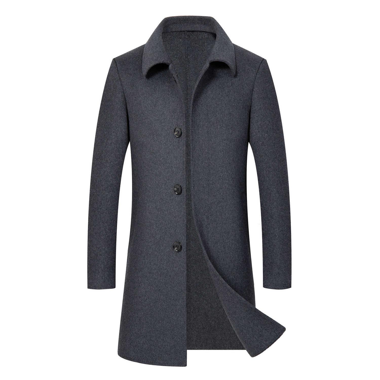 Nouveau manteau en laine pour hommes manteau automne cachemire manteau en laine d'hiver manteau en laine pour hommes d'âge moyen - 3
