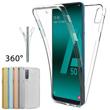 Claro 360 Completa Caixa Do Telefone Para Samsung Galaxy A50 30 40 10 M10 20 30 20 60 70 S10 S8 9 Mais À Prova de Choque TPU Macio Back Cover Coque(China)