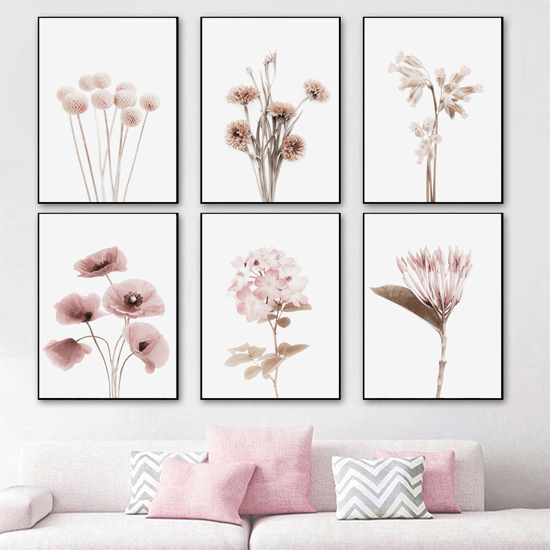 Botanical Flowers Plant Posters and Prints Gallery Wall Art Nordic Canvas Painting Dreative Pictures for Living Room Home Decor