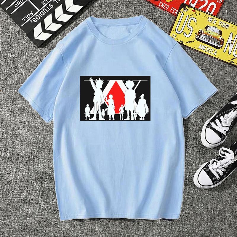 Купить футболка унисекс в стиле харадзюку с принтом hunter x футболки