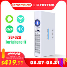 BYINTEK Mini 3D Projektor R19 4K ,Smart Wifi Android Beamer, tragbare LED DLP lAsEr Proyector für Smartphone 300 zoll Full HD 1080(China)
