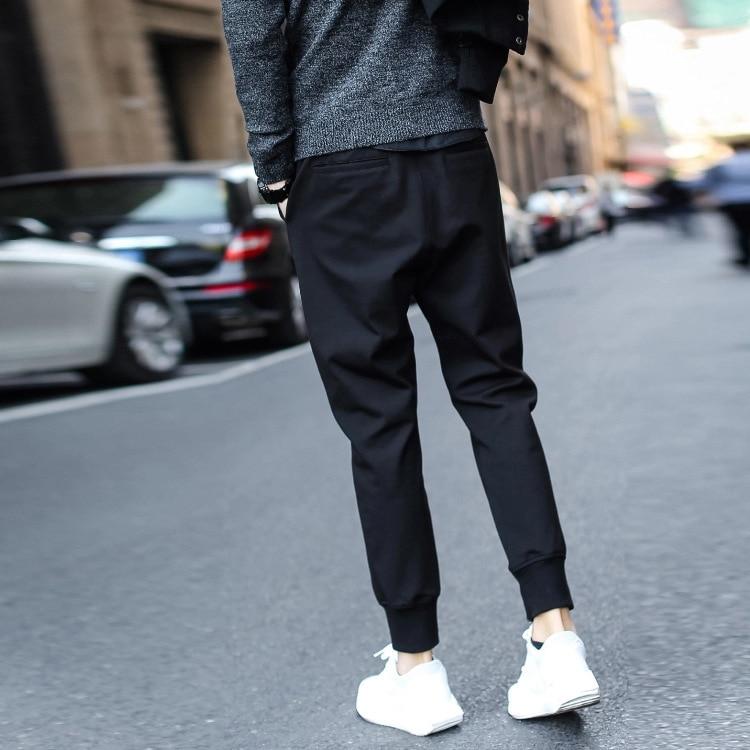 Harem Pants Men's European And American-Style Skinny Pants Beam Leg Pants Slim Fit Sweatpants Spring-Summer Athletic Pants Men's