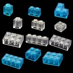 DIY Building Blocks blue Transparent White Thick Brick Model classic bulk parts Compatible All Brands Toys for Children
