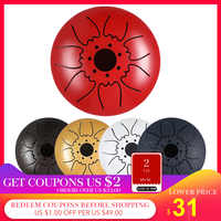 5 Inch Tongue Drum Mini 7-Tone Steel Tongue Drum C Key Hand Pan Drum with Drum Mallets Carry Bag Percussion Instrument