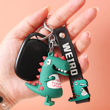 Fashion Color Dinosaur Key Chain Women Men Kawaii Car Keychain Keyring Animal Schoolbag Pendant Creative Gifts Key Holder