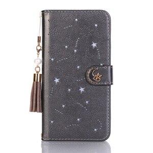 Image 3 - 高級房の真珠中空iphone × 8 7 6 6sプラスxs最大xrかわいいスター月磁気財布 360 ブックカバー