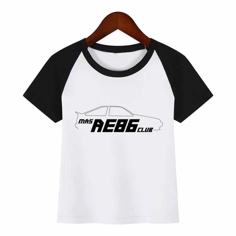 MAGLIETTA di Estate dei bambini Camicia Deriva Giapponese Anime AE86 Iniziale D di Stampa T-Shirt Dei Ragazzi Delle Ragazze Del Cotone Magliette e camicette Bambini della Maglietta di Modo