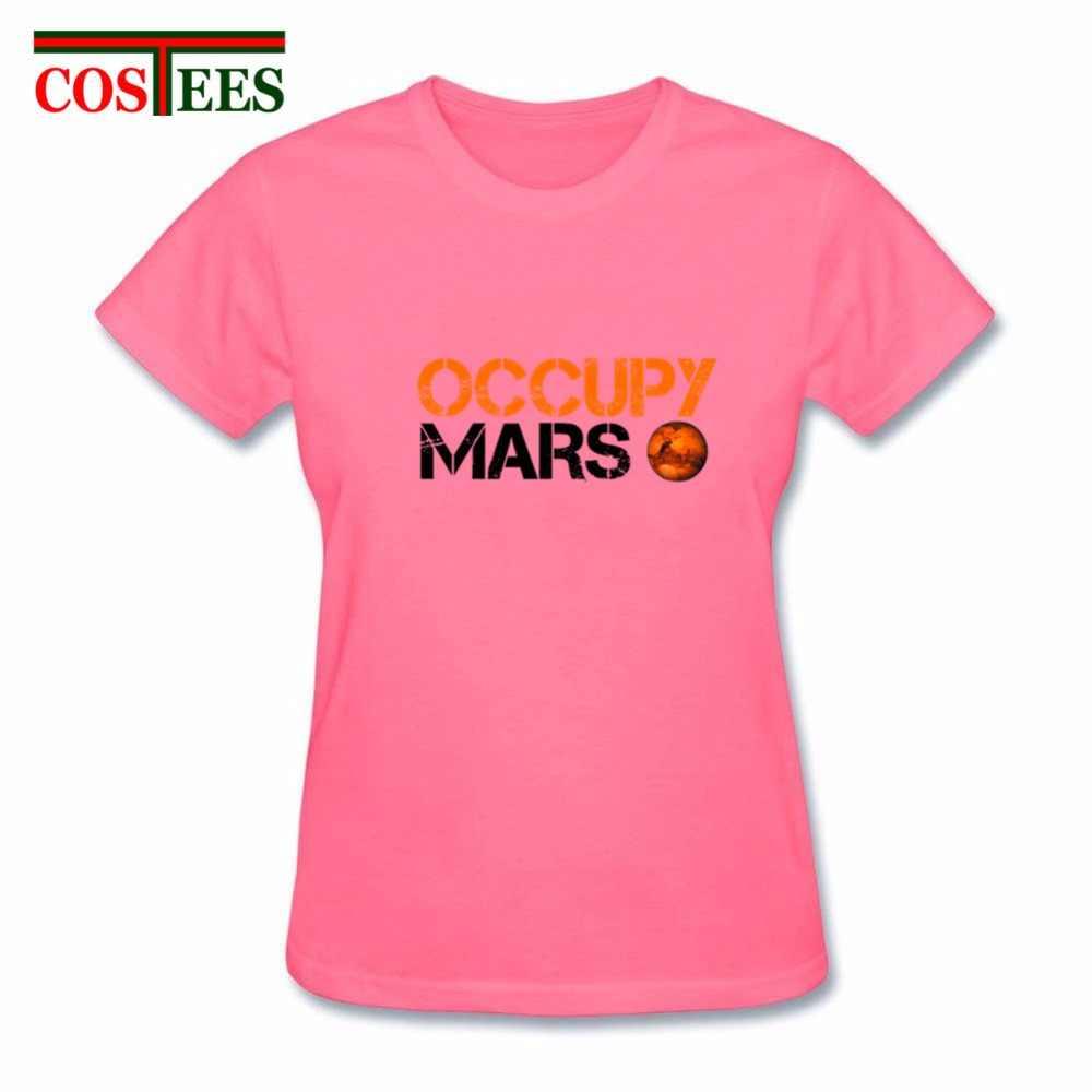 Camisetas işgal Mars T shirt uzay X t-shirt Elon misk T shirt kadın SpaceX ağır falcon tshirt StarmanX Tesla Roadster gömlek