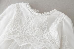 Hetiso Платье для маленьких девочек с длинными рукавами; наряд для первого дня рождения бальное платье наряды для новорожденных, для крещения, ...