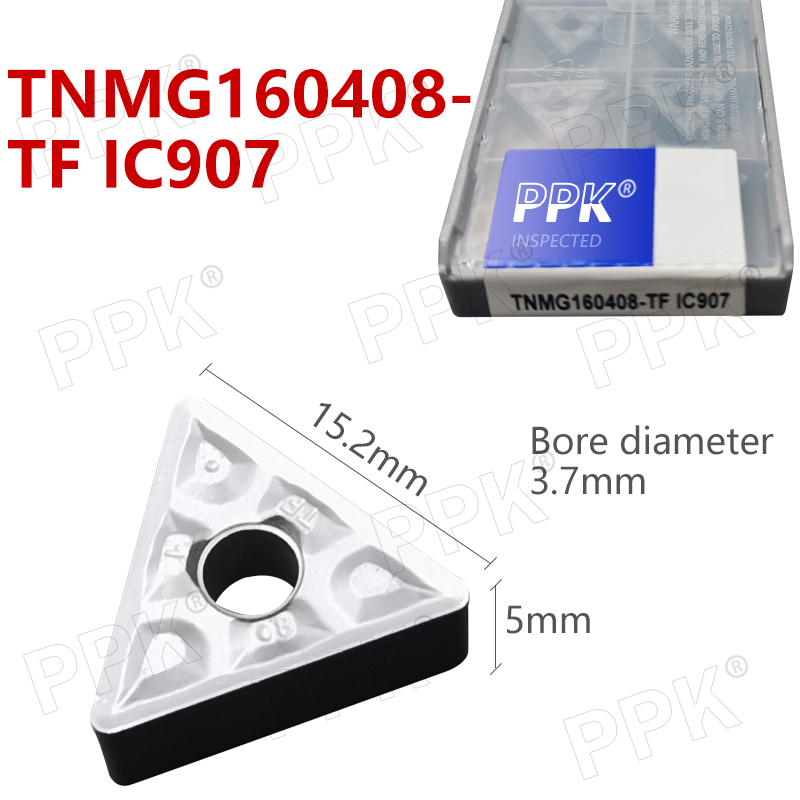 TNMG160408- TF IC907 External Turning Tools Carbide Insert Lathe Cutter Tool Tokarnyy Turning Insert
