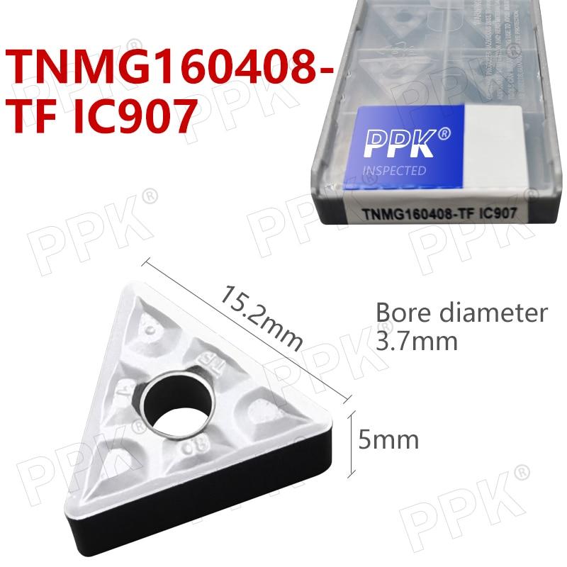 TNMG160408- TF IC907 External Turning Tools Carbide Insert Lathe Cutter Tool Tokarnyy Turning Insert