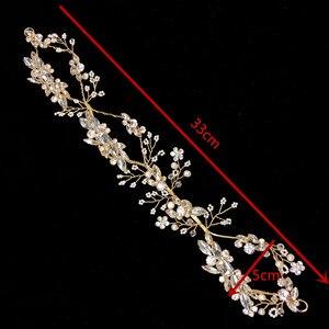 Image 5 - Bandeau de mariée en cristal de luxe avec strass, accessoires pour cheveux, diadèmes de mariée, bandeau élégant fait à la main, RE731