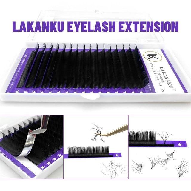 LAKANAKU Individual Eyelashes C D Private Label Mink Eyelash Extensions False Classic Eyelash Lash Extension Makeup 5