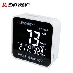 SNDWAY PM2.5 detektor cyfrowy Monitor jakości powietrza czujnik laserowy analizator gazu zanieczyszczenia powietrza tester miernik temperatury i wilgotności narzędzie