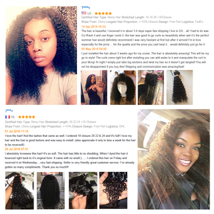 Image 2 - Beaudiva produtos de cabelo 100% feixes de cabelo humano malaio com fechamento kinky curly cor natural 3 pacotes com 4x4 fechamento do laço