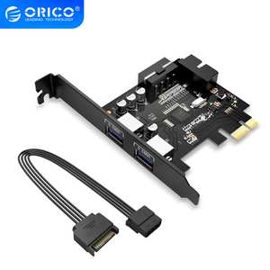 ORICO Adapter-Card Expansion-Card-Adapter Hub-Controller PCI-E Usb-3.0 with 15pin Power-Supply