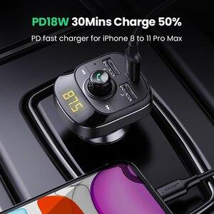 Image 2 - UGREEN cargador USB tipo C para coche, cargador PD de carga rápida 4,0 3,0, para iPhone 11, cargador de teléfono móvil