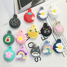 For AirTags Cover cute Korea funny dog cartoon silicone Protection Anti-lost Protective case For Air Tags Locator Tracker Cover
