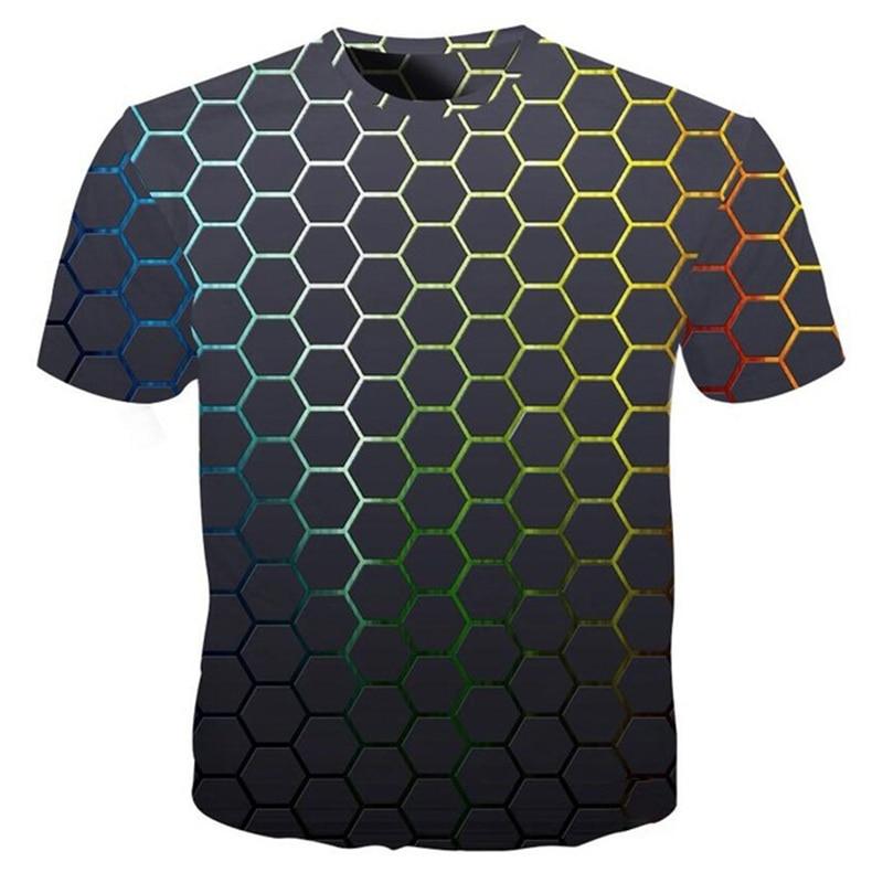 Cool Plaid Diamond 3d T Shirt Men Fashion Hip Hop T-shirt Summer Streetwear Tees Male Funny 3d T Shirt Plus Size 4XL