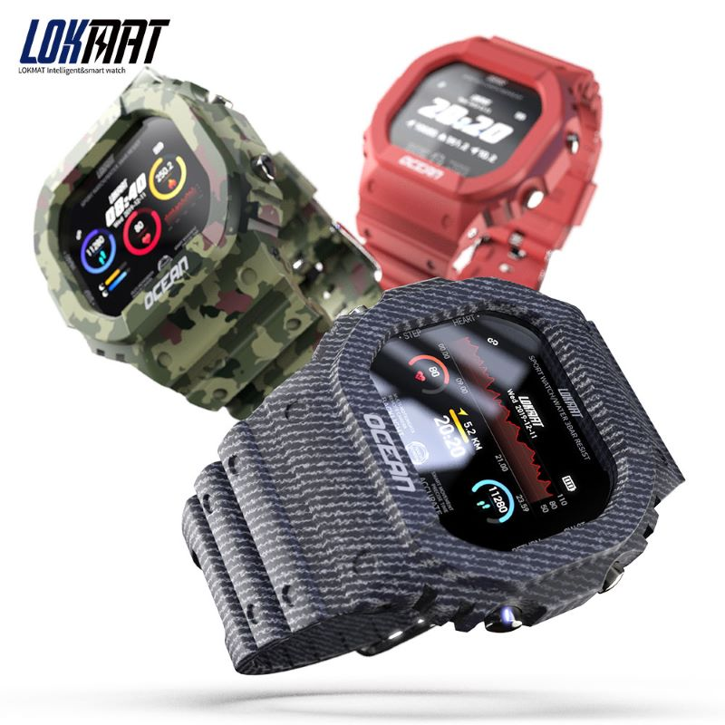 LOKMAT OCEAN Remote Camera Sports Smart Watch Swimming Pedometer Heart Rate Monitor Call Message Reminder Social Interaction|Smart Watches| - AliExpress