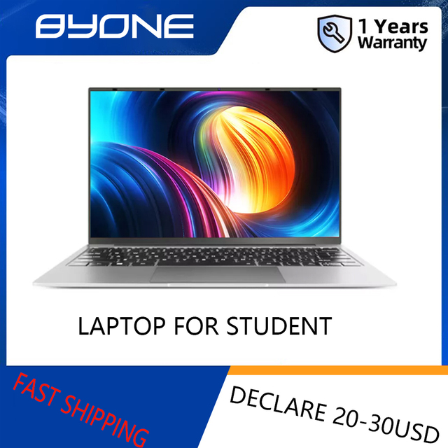 14.1 inch Laptop Intel Celeron J3355 6GB RAM 64GB SSD Computer Windows 10 Untra Thin Laptops All Metal for Student NoteBook 1