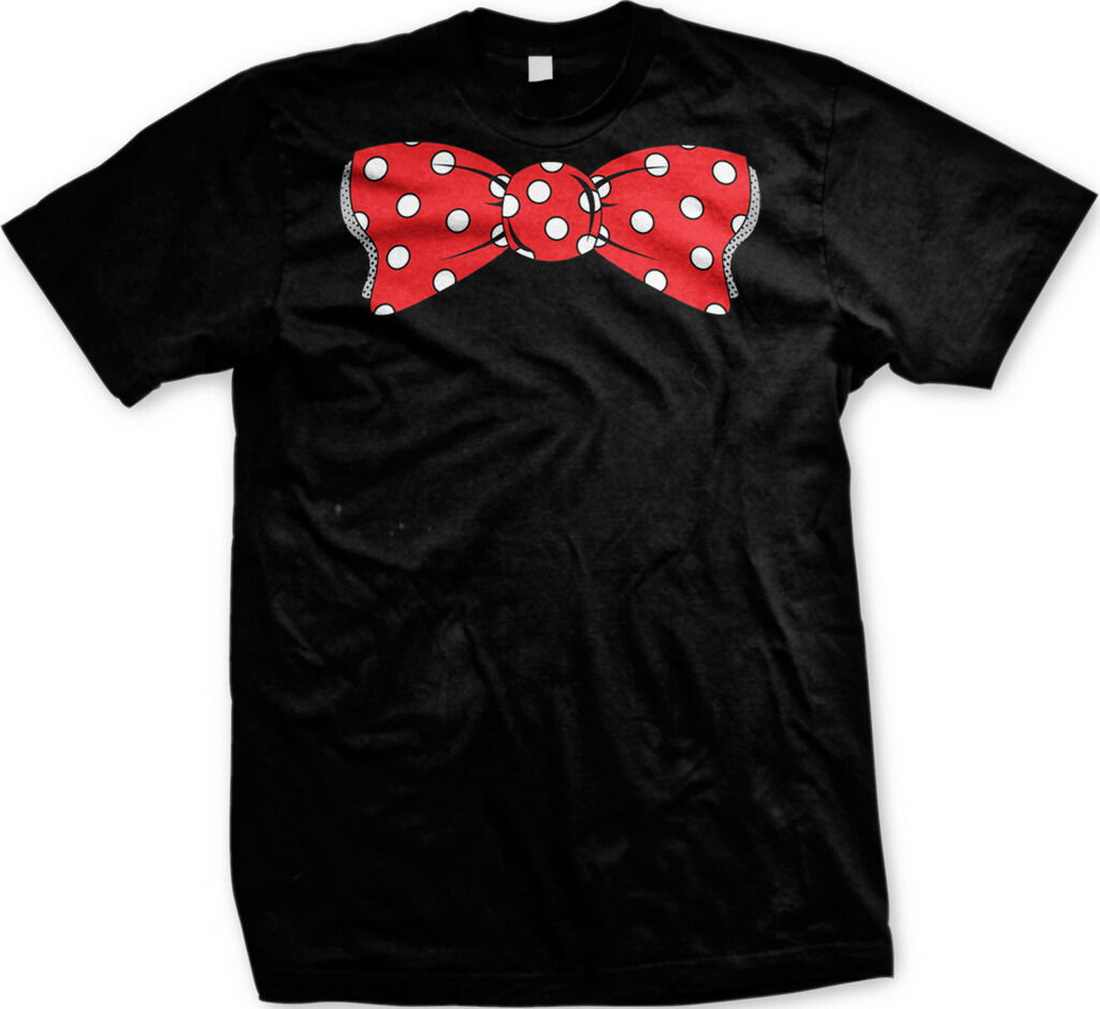 Huge Red Polka Dot Bow Tie Clown Gag Gift Funny Dress Up Costume Men's Tops Tee T Shirt T-Shirt Cool Casual Cotton