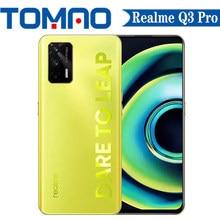 Nowy Realme Q3 Pro 5G Smartphone 120Hz Dimensity 1100 8GB RAM 128GB 256GB ROM 4500mAh 30W 64MP aparat 6.43 cala AMOLED Google play
