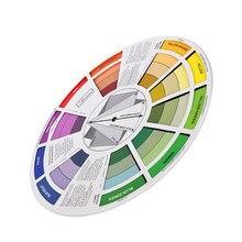 Guide de correspondance de couleurs professionnel, roue de couleurs, tableau de mélange des couleurs, carte en papier, conception à trois niveaux pour mélanger les outils 9.25 pouces