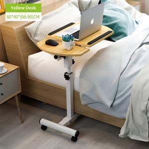 Image 5 - בית מתקפל נייד שולחן מתכוונן לצד שולחן מחשב שולחן מתקפל בית שולחן מחשב נייד מיטת צד מחקר שולחן מטלטלין מיטת שולחן