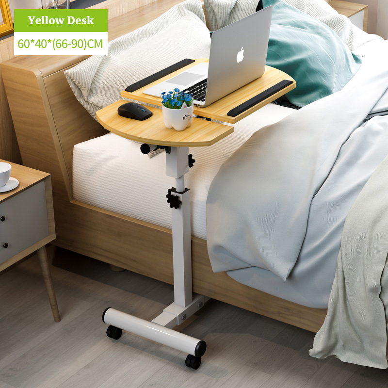 Foldable Laptop Stand with Rotating Wheels and Side Space for Keyboard and Mouse 5