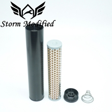 Threaded-End-Cap Low-Profile Aluminum-Alloy FUEL-FILTER 24003 for 5/8--241/2-