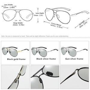 Image 5 - CoolPandas Brand Men Pilot Sunglasses Polarized Driving HD Photochromic Sun Glasses Women Aviation Discoloration zonnebril heren