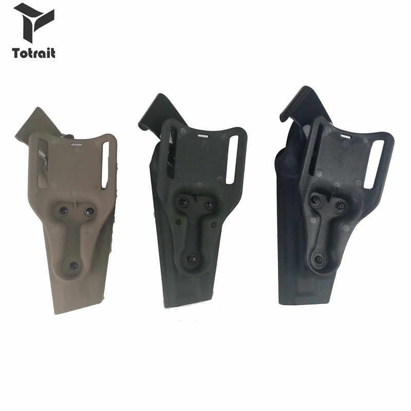 Totrait taktik sağ el kemeri bel kılıfı askeri silah taşıma çantası kılıf için Fit Beretta M9 92 96 siyah/yeşil /Tan
