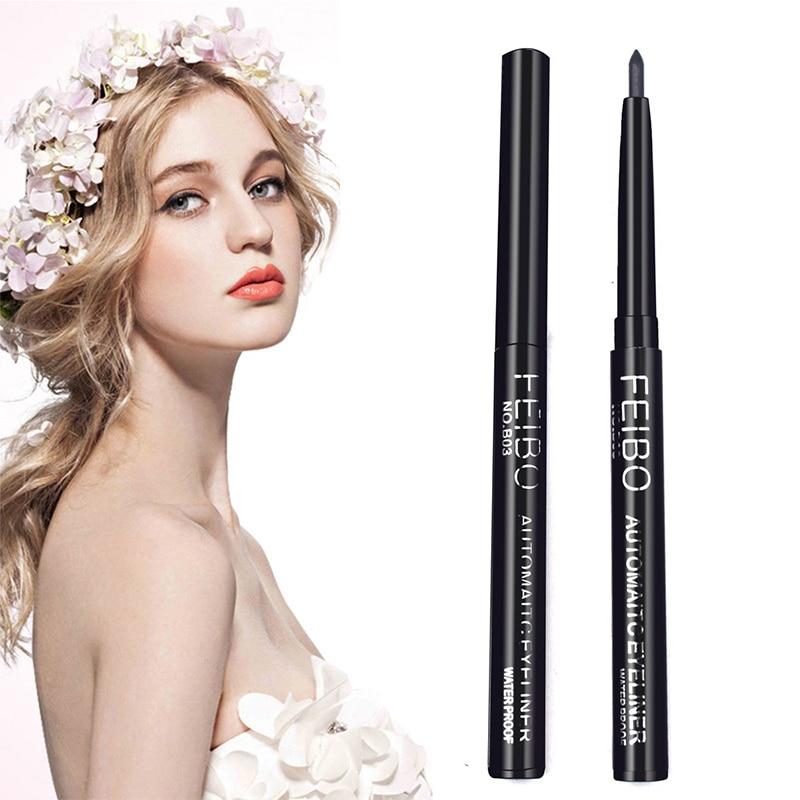 Delineador de ojos negro profesional, maquillaje líquido resistente al agua, Lápiz Delineador de Ojos de secado rápido, larga duración, no florece, cosméticos