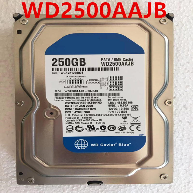 New HDD For WD 250GB 3.5