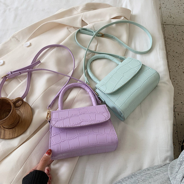 Women Crocodile Patent Mini Shoulder Bag Crossbody Bags 2020 Handbag PU Leather Hand Bag Ladies Designer Evening Bags Clutch Uncategorized Fashion & Designs Ladies Bags Luggage & Bags Women's Fashion