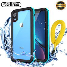 Shellbox IP68 Waterproof Case for iPhone 11 Pro Max Shockproof Silicone Case Cover for iPhone X XR XS MAX Anti virus Phone Cases