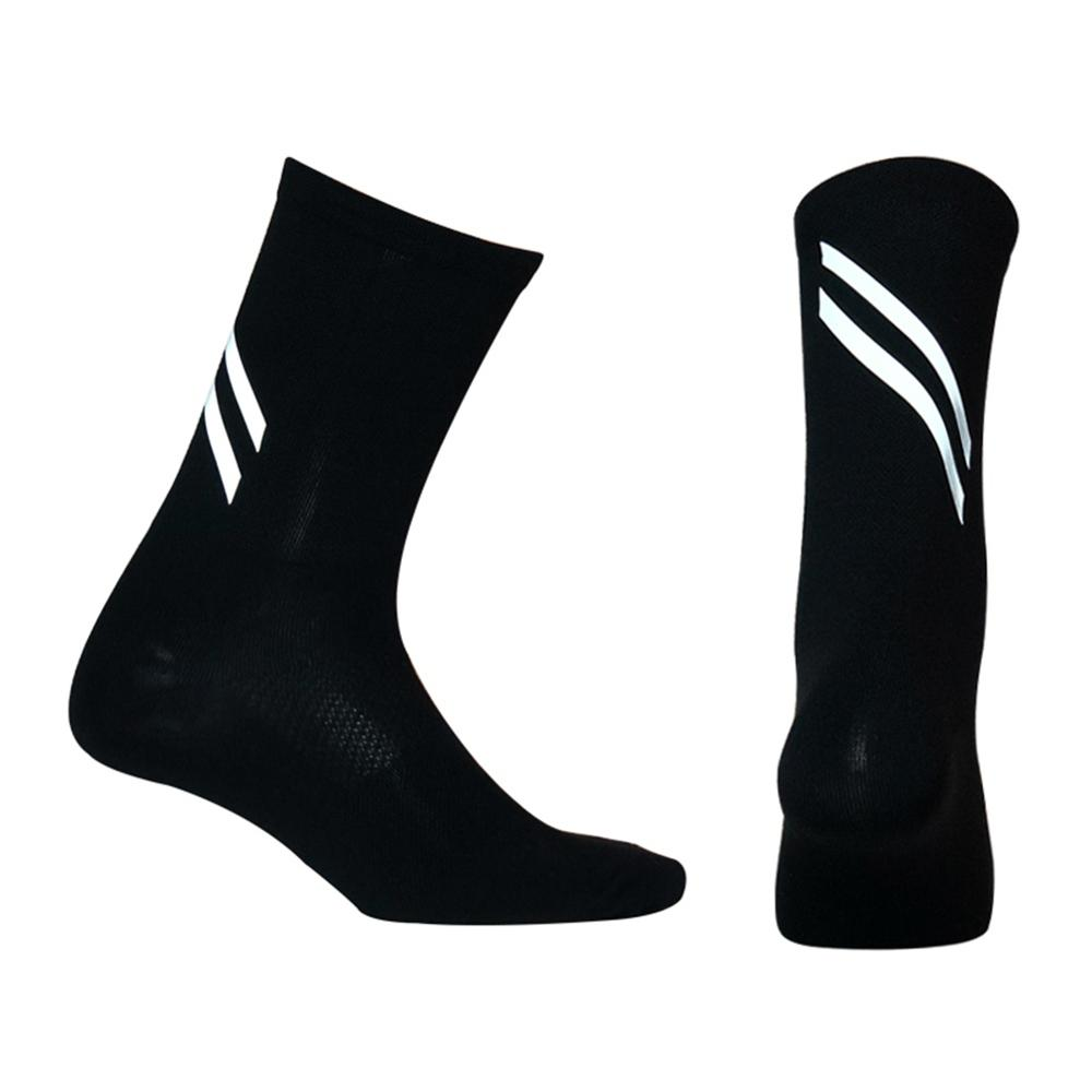 New High Quality High Reflective Cycling Socks Night Safety Men Women Professional Bicycle Bike Socks Sport Hiking Running Sock
